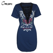 Hot Fashion Cross Lace Up T-shirt