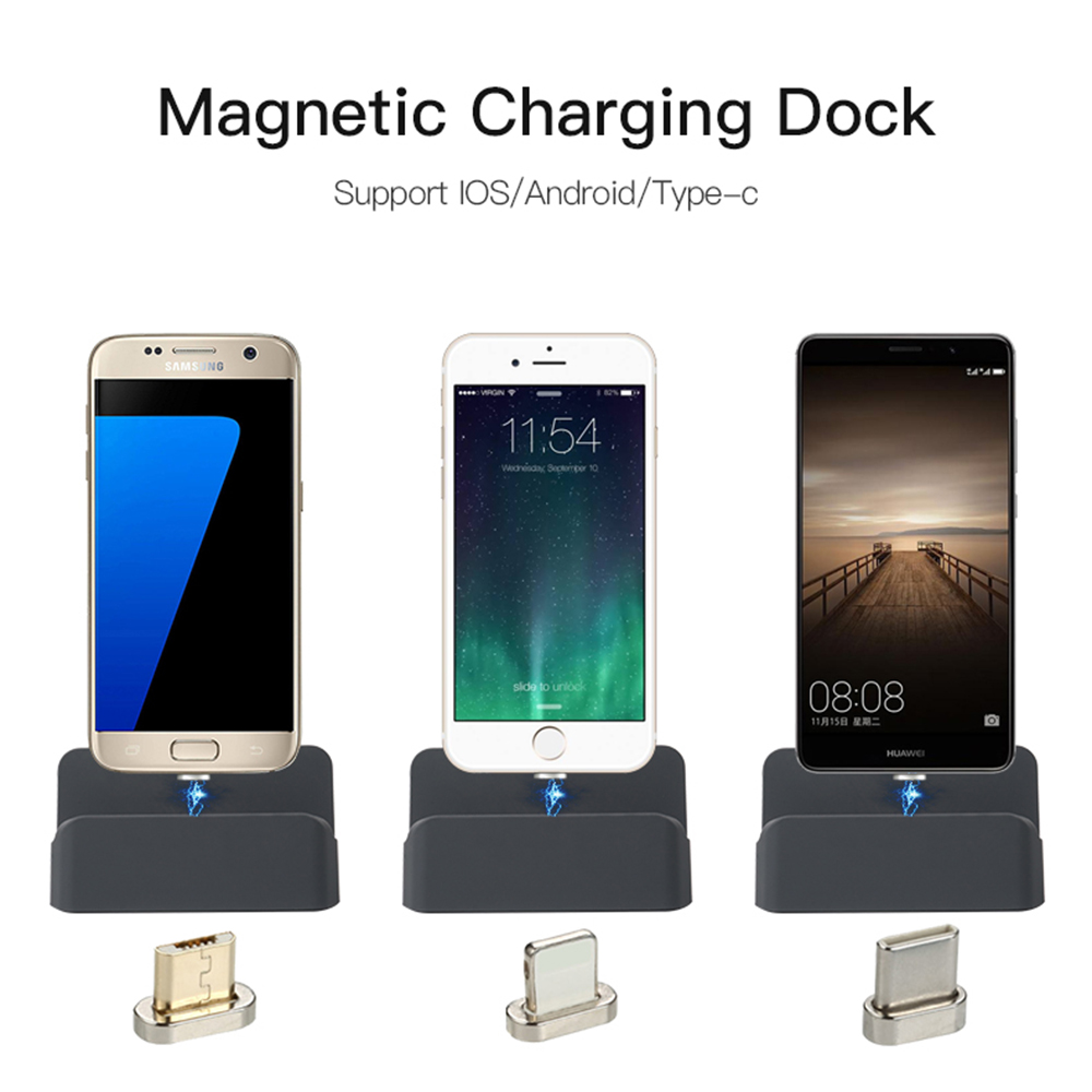 sikai magnetic charging dock station desktop universal. Black Bedroom Furniture Sets. Home Design Ideas
