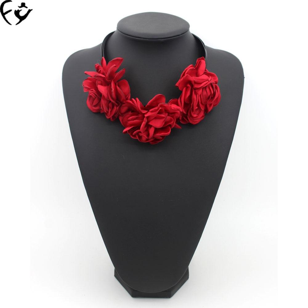 Beautiful Necklace Flower Fashion Handmade FY FY18121210 Rope Cloth-Art American