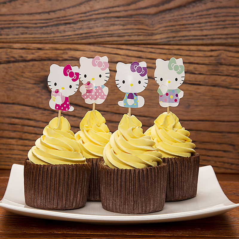Free Shipping 96pcs Tinckerbell Cupcake Toppers Picks Birthday Party