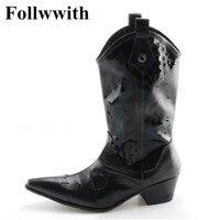 2018 Hot Sprzedaży Mody Patentowej Skóry Kolana Wysokie Najwyższej Jakości mężczyźni Buty Druku Skórzane Follwwith Drand Projekt Placu Obcas Mężczyźni buty