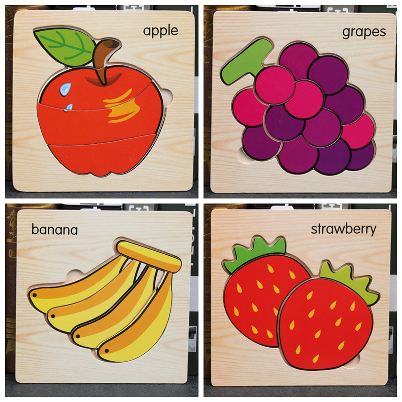 Worm Eat Fruit Kids Child Infant Baby Developmental Toys Puzzle Game Wooden