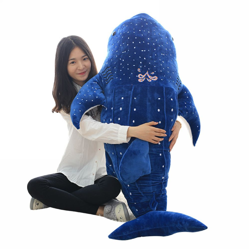 Fancytrader 59'' Giant Plush Whale Shark Toy Big Stuffed Sea Animal Shark Hugging Pillow Kids Play Doll Nice Gifts 3 Colors mr froger carcharodon megalodon model giant tooth shark sphyrna aquatic creatures wild animals zoo modeling plastic sea lift toy
