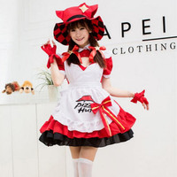 red maid cosplay costumes for women sissy maid uniform festival clothing sweet anime cosplay clothes