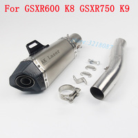 Motorycle Exhaust Modified With Akrapovic Laser Marking DB Killer Motorbike Muffler Sticker For Suzuki GSXR600 GSXR750 K8 K9