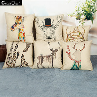 CrossOver Elk Series Digital Printing Pillowcase Decorative Pillowcase Cushion Cover For Car Home Office Sofa Throw