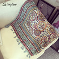 Bohemian style small floral print sunscreen scarf for beach Scarves 2017 new outdoor multimeter seaside vacation shawl cape D111