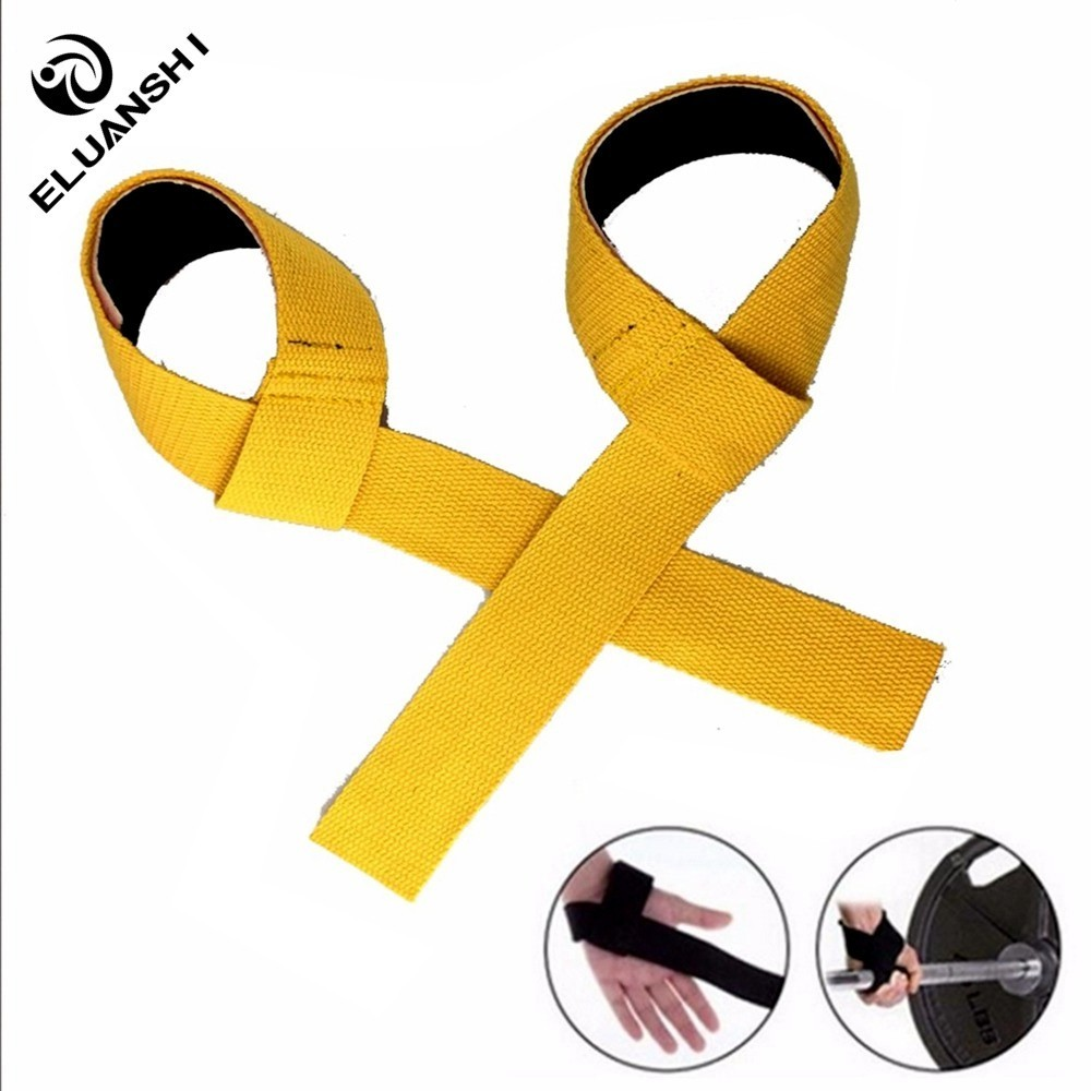 2pcs gym lifting straps weightlifting wrist weight belt bodybuilding gloves for women men fitness crossfit barbells power sport(China)