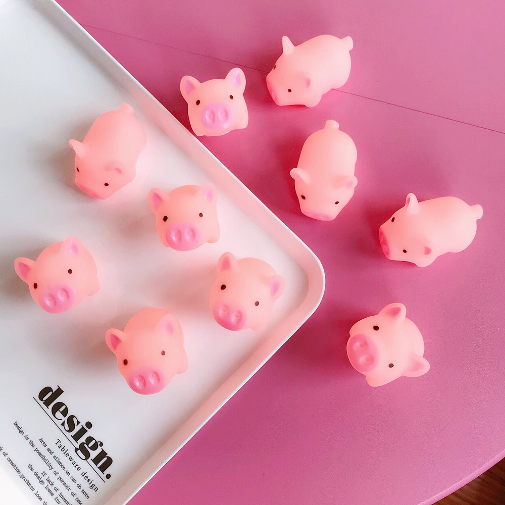 1Pc Squeeze Pig Mochi Squishy Kawaii Animal Slow Rising Squishy Toy Anti-strss Practical Jokes Kids Squishies Cute Toy Hot Sell