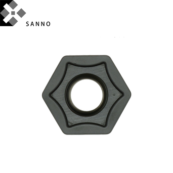 10pcs HNMG050410-MM KM241 two-sided use hexagon mills cutter cnc roughing milling inserts for steel, cast iron, stainless steel