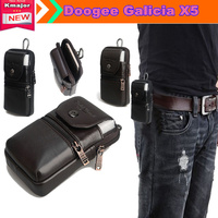 Genuine Leather Carry Belt Clip Pouch Waist Purse Case Cover for Doogee Galicia X5 5.0inch Phone Free Drop Shipping