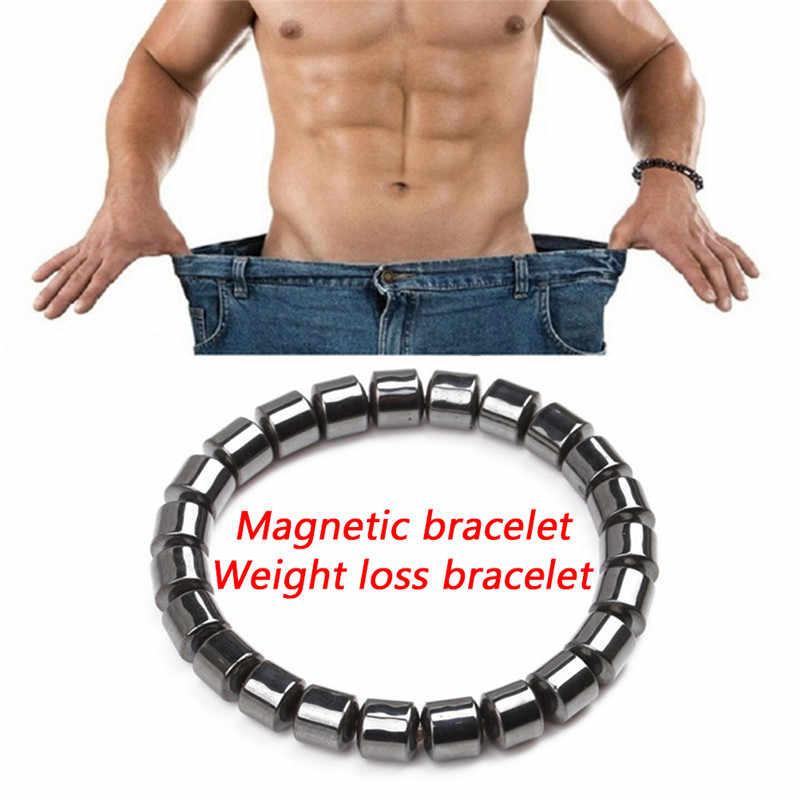 Разноцветный браслет гематитовое магнитное потеря веса, похудения браслеты черный желчнокаменная акупунктурные массажные аксессуары для ухода за волосами