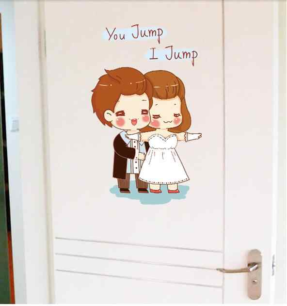 Detail Feedback Questions About Love Couple Cartoon Kids Cute Wall