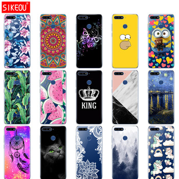Silicon case for huawei Y6 Prime 2018 case Super cat Painting Soft TPU Back Cover for huawei Y6 Prime 2018, full 360 shockproof