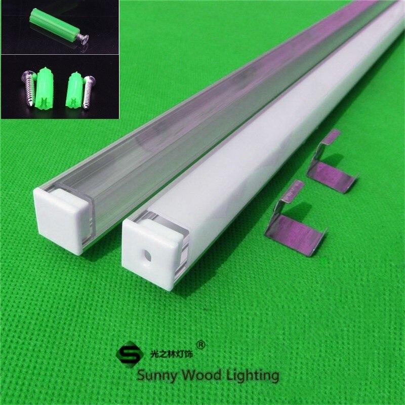 polegada 2 10 40 pcs lote 80 m 90 graus canto perfil de aluminio para tira