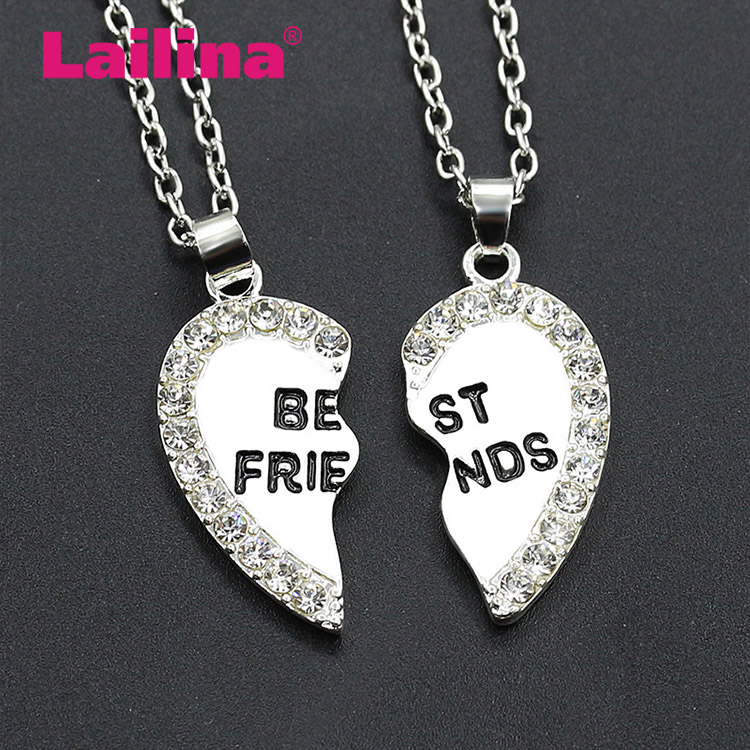 Best Friends necklace love English pendant alloy small jewelry Europe and the United States fashion diamond girlfriend pendant