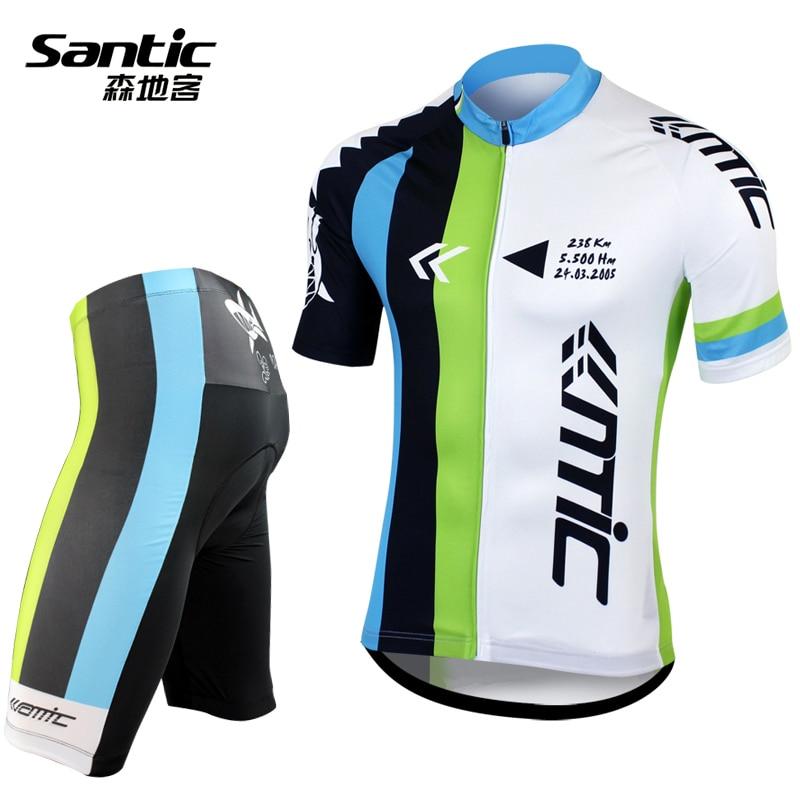 Men Sport Team Cycling Bike Comfortable Clothing Jersey Shirts Short Pants Suit
