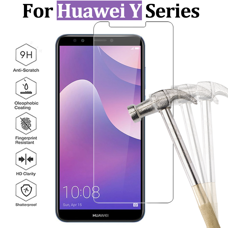 For Huawei Y9 <font><b>2018</b></font> glass for Huawei Y6 y5 prime <font><b>2018</b></font> protective glass Y3 Y5 Y6 ii screen protector Y 3 5 6 tempered glas 9h film image