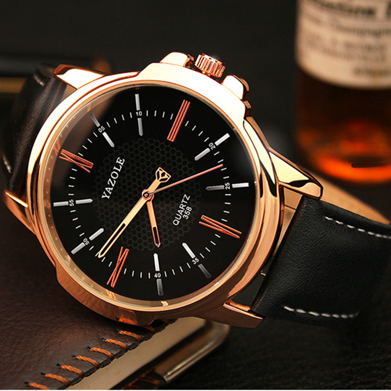 YAZOLE Mens Watches Top Brand Luxury Wrist Watch Men Watch Fashion Leather Men's Watch Clock erkek kol saati relogio masculino hannah martin men s sport watches top brand wrist watch men watch fashion military men s watch clock kol saati relogio masculino