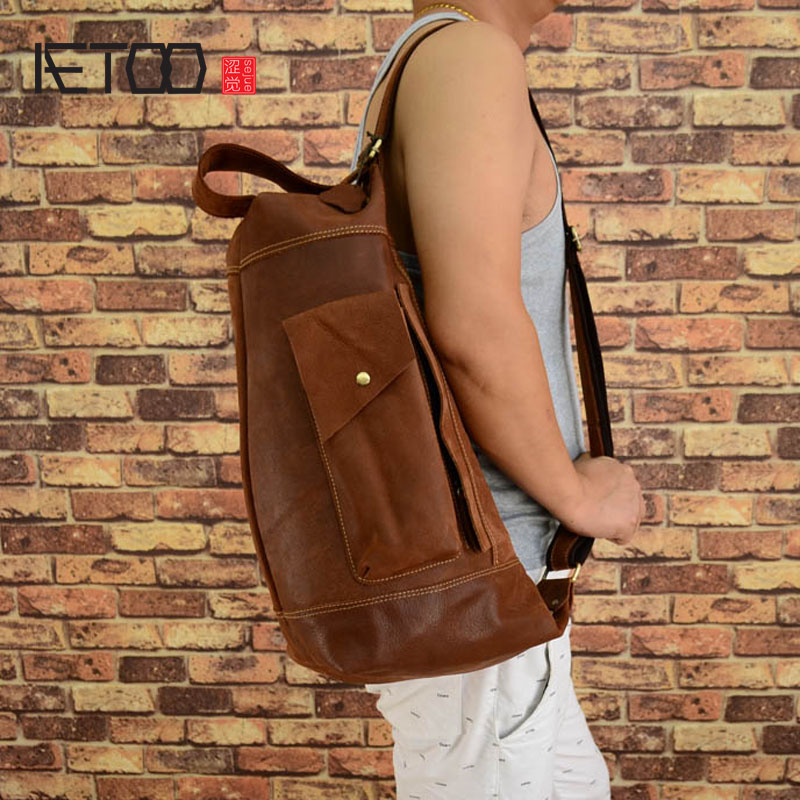 AETOO Original design of the first layer of leather  Europe and the United States fashion shoulder bag tide gowns multi- the principles of automobile body design covering the fundamentals of open and closed passenger body design