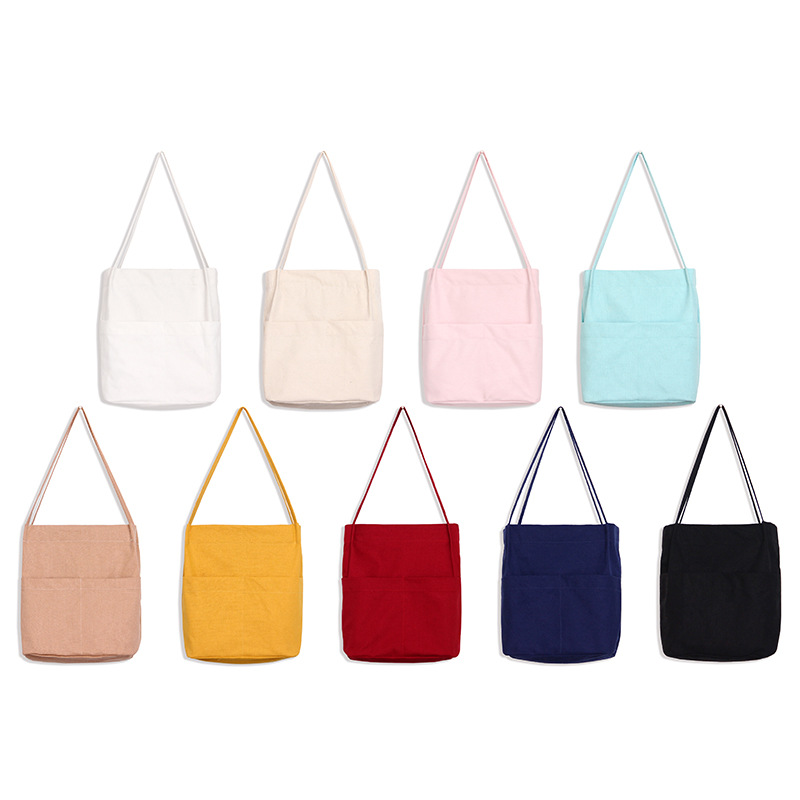 Casual Art Solid Canvas Tote Bags for Women Shoulder Bags Big Beach Ladies Hand Bags High Quality