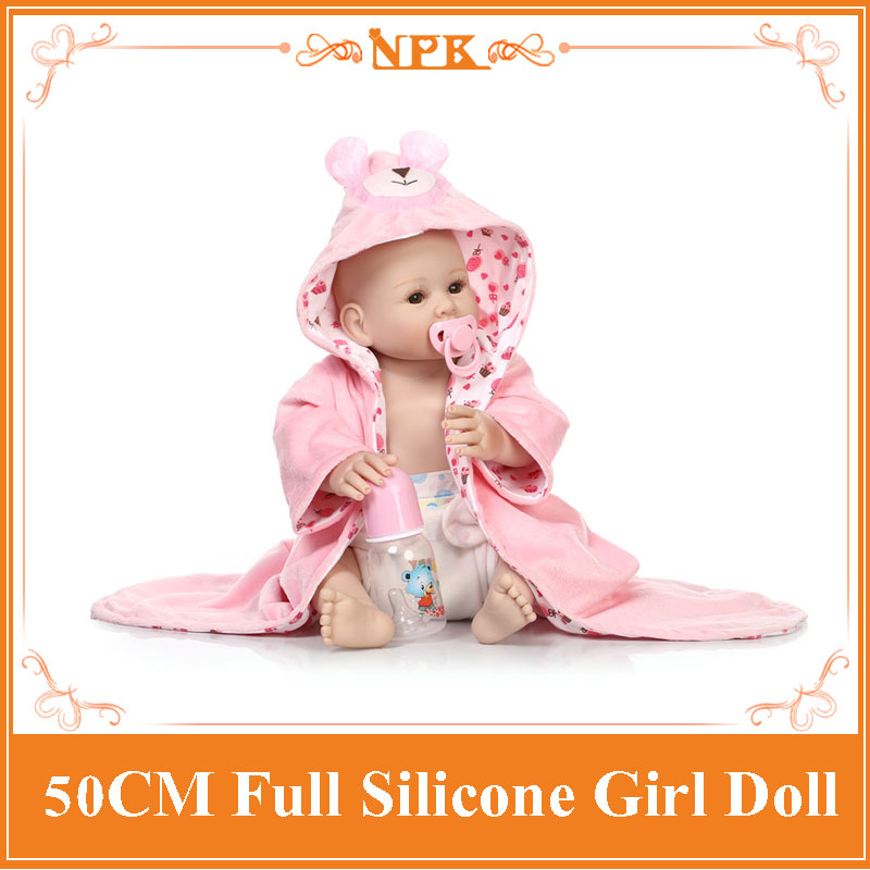 Latest 50cm Full Body Silicone Reborn Baby Girl Doll Toys for Girls, Play House Reborn Babies Toy Birthday Gift Girls Brinquedos mayitr photoelectric switch sensor ac 90 250v 3a e3jk r4m1 square reflex light barrier sensor photoelectric switch