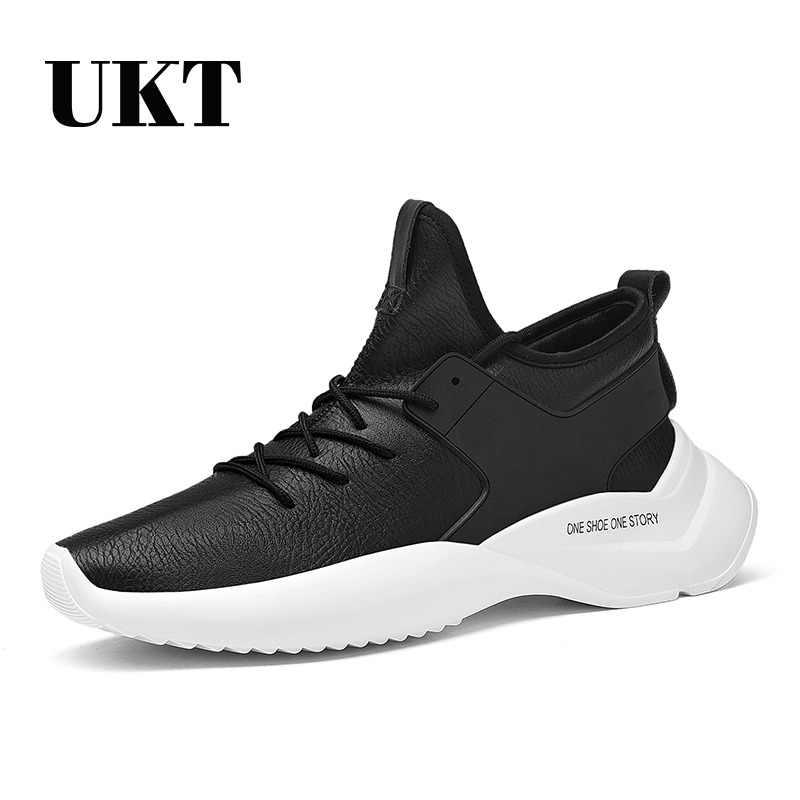 Marca zapatos para hombres primavera otoño PU cuero transpirable encaje  hasta luz amortiguación hombre zapatillas a9511fe830c2