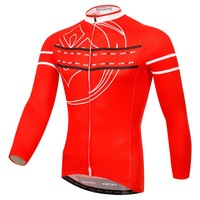 XINTOWN New Men Women Long Sleeve Cycling Jersey Red Spring Autumn Long Sleeves MTB Road Wear Chute Board Cycling Clothing