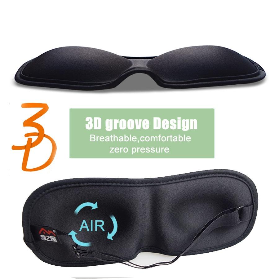 3D Ultra-soft breathable fabric Eyeshade Sleeping Eye Mask Portable Travel Sleep Rest Aid Eye Mask Cover Eye Patch sleep mask 2
