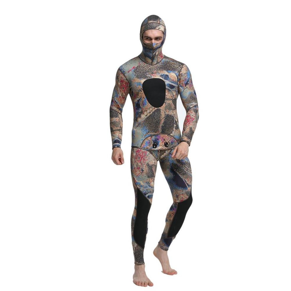 2 pz Uomini Immersione Muta In Neoprene 3mm di Pesca In Apnea Muta Surf Snorkel Spaccato del Costume Da Bagno Si Adatta Alle Immersioni Surf Abbigliamento Mimetico