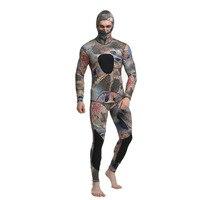2PCS Men Diving Suit Neoprene 3mm Spearfishing Wetsuit Surf Snorkel Swimsuit Split Diving Suits Surf Camouflage Clothing