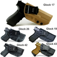 B.B.F Make IWB Tactical KYDEX Gun Holster Glock 19 17 25 26 27 28 43 22 23 31 32 Inside Concealed Carry Pistol Case Accessories недорого