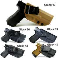 BBF Make IWB Tactical KYDEX Gun Holster Glock 19 17 25 26 27 28 43 22 23 31 32 Inside Concealed Carry Pistol Case Accessories