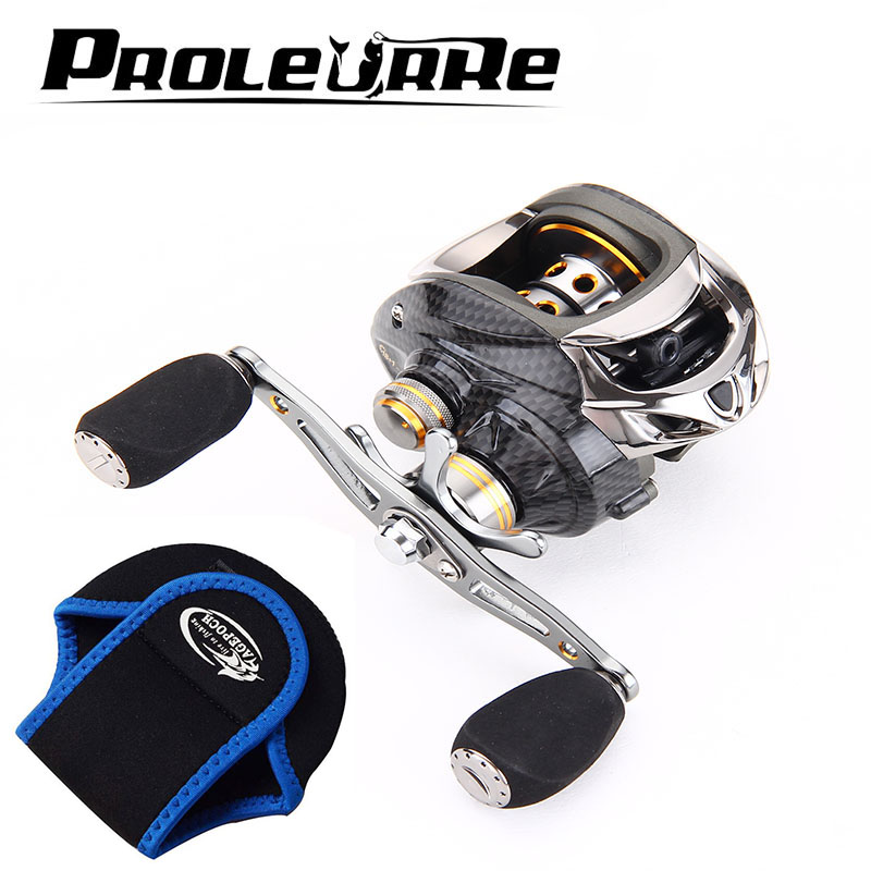 Proleurre Carbon Baitcasting Reel 18+1 BB Super Light Casting Reel Centrifugal and Magnetic Brake System Bass Fishing Carp trolling reel 9 1bb drum wheel carp baitcasting reels centrifugal brake casting saltwater fishing reel super power drag 30kg