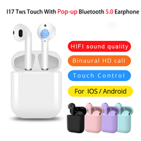 case iphone 5 i17 Tws Touch Control With Pop-up Window Wireless Bluetooth earphone Headset 5.0 Stereo Sound with charging case for iphone (1)