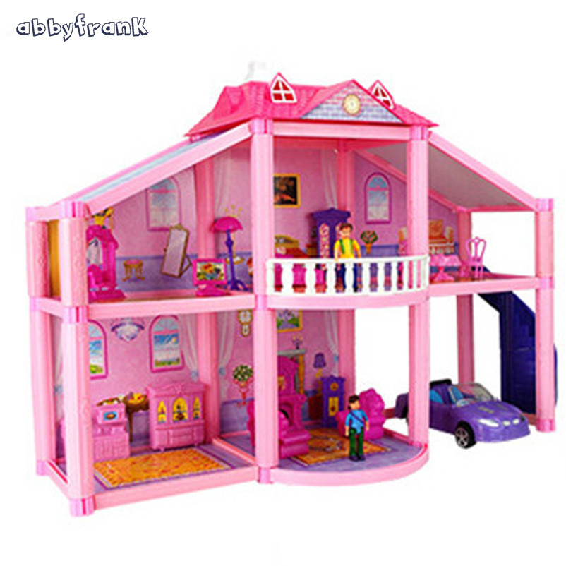 Aliexpress.com : Buy Abbyfrank Two Layers House Doll Toys 3D DIY ...