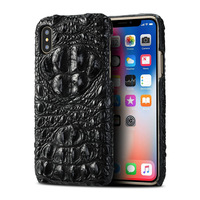 100% Real Crocodile Skin XS Case for iPhone XS Max Case Luxury Leather Cover for iPhone 5 5S SE 6 6S 7 8 Plus X XR XS Max Case