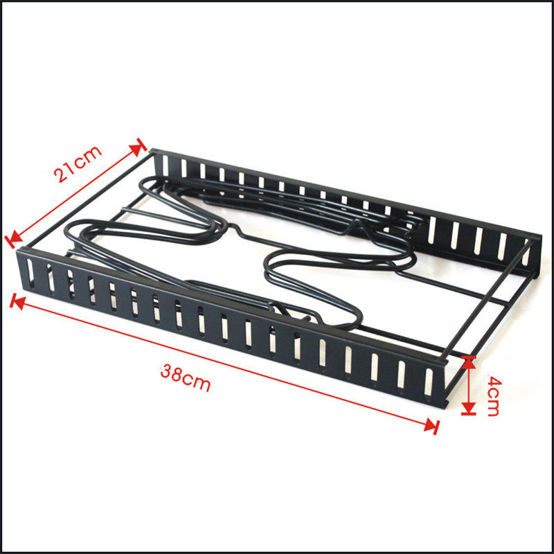 Image 5 - Multi Layer Extendable Metal Pot Shelf Rack Pan Kitchen Accessory Adjustable Stand Holder Rack Shelves Storage Shelf OrganizerRacks & Holders   -