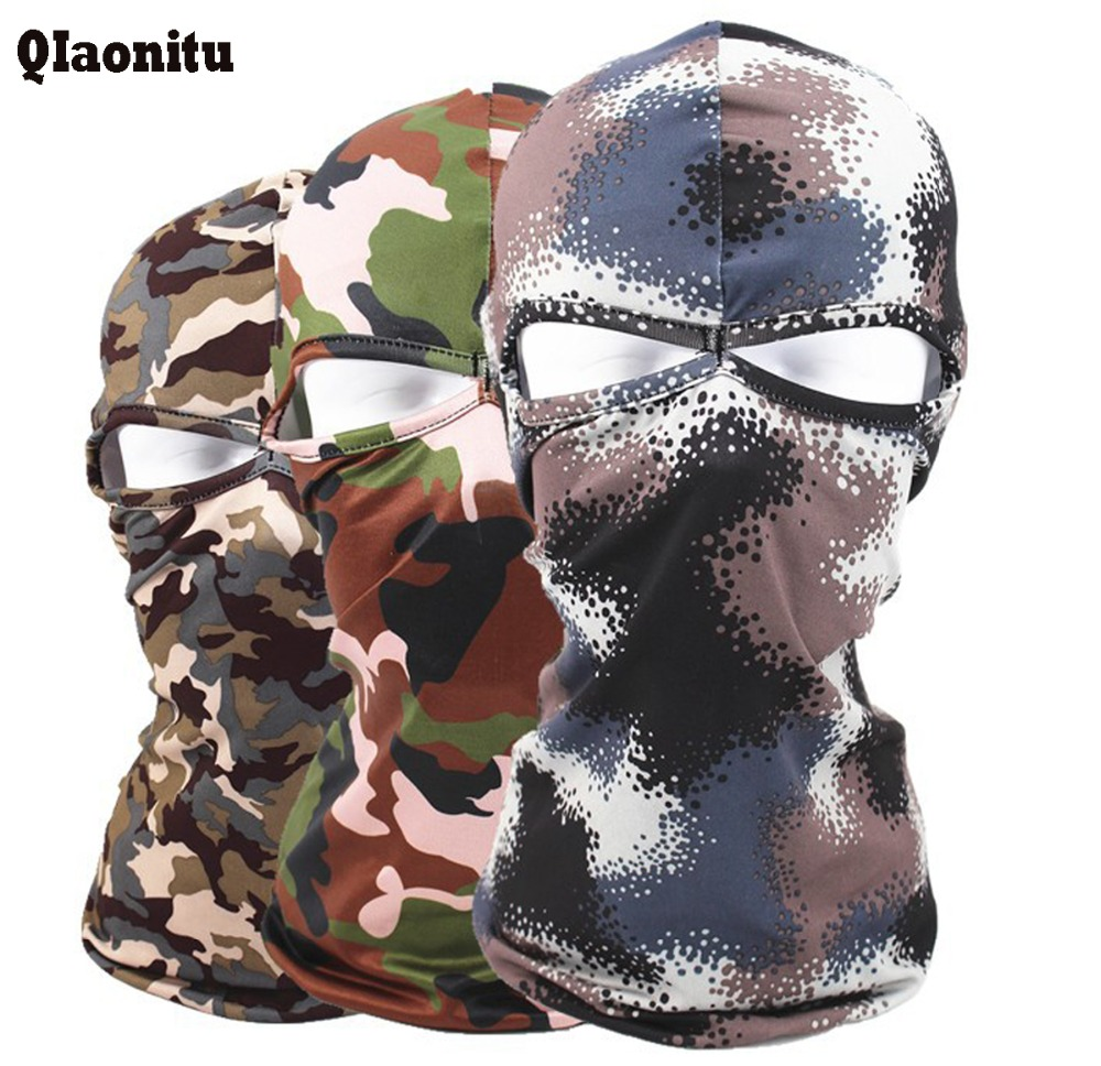 Windproof  Face Mask Quick-Drying  Breathable Anti UV Motorcycle Wargame Tactical camouflage Balaclava Full Face Mask