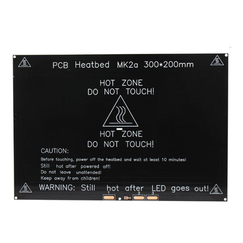 Upgraded Heated Bed 12V Round Corner MK3 Heatbed 3D Printers Parts Aluminum Plate 300mm*200mm*3mm Hotbed Black Heat Heating Part mk3 heated bed 12v 24v parts for reprap mendel heatbed hot hotbed 3d printers part heat 214x214mm aluminum plate 3mm accessories