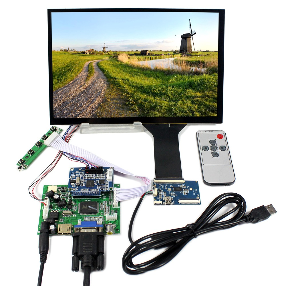 HDMI VGA 2AV LCD Controller Board With 10.1inch 1920x1200 B101UAN01.A AHVA LCD Screen hdmi vga 2av reversing lcd controller driver board with 6 2inch 800x480 hsd062idw1 lcd panel