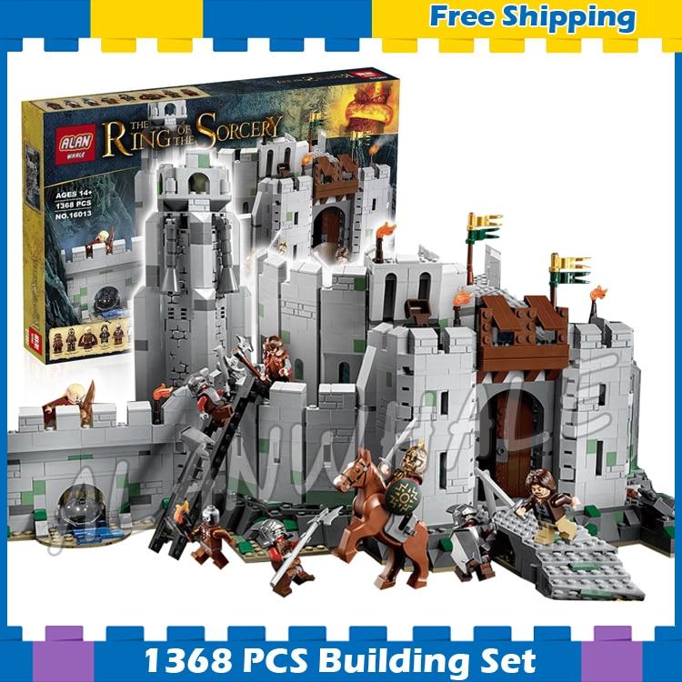 1368 шт. Властелин колец битва руля глубокий крепость 16013 модель строительные блоки По ...