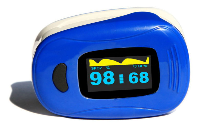 Oximetro de pulso de dedo AH-A3 blue color Fingertip Pulse Oximeter SPO2 Monitor OLED Display blood oxygen spo2 saturation