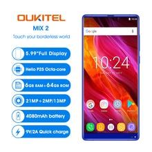 "Original OUKITEL MIX 2 4G LTE Smartphones 6 GB RAM 64 GB ROM Octa-core Android 7.0 Handy 5,99 ""18:9 lünette-Weniger Handy"