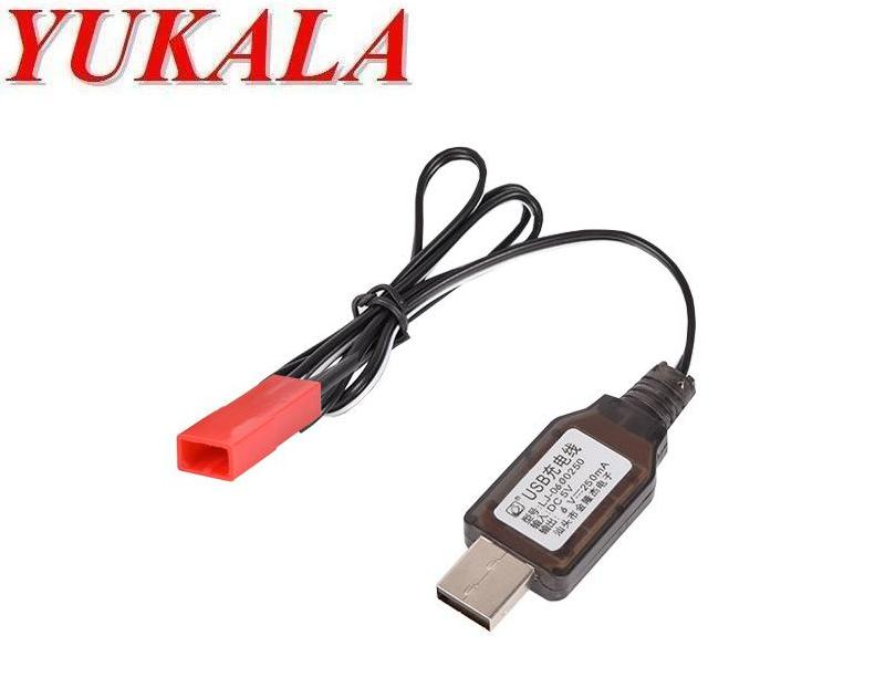 YUKALA <font><b>6V</b></font> <font><b>USB</b></font> <font><b>charger</b></font> cable for <font><b>6V</b></font> Ni-CD/<font><b>6V</b></font> Ni-MH rechargeable battery with JST-2P 2pcs/lot image