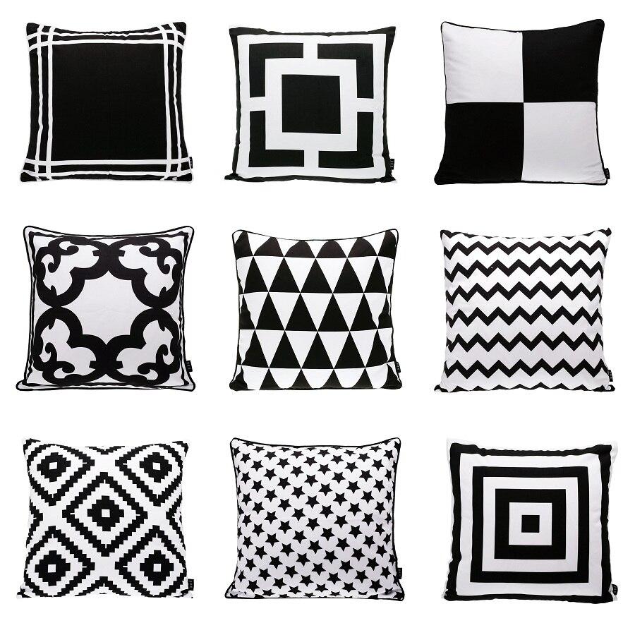 Scandinavian Cushions Cover Home Decor Black White Decorative