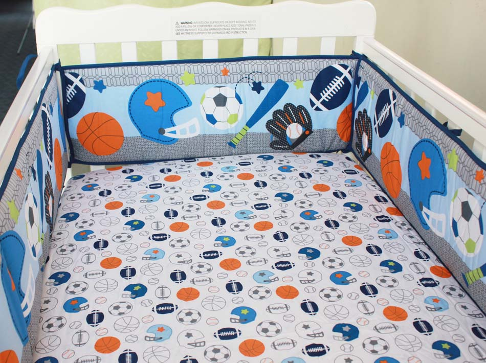 5pcs Embroidery Bedding Set For Girl Boy Baby Crib Bedding Set Baby Cot Set Bed Bumpers Protrctor ,include (4bumper+bed cover) 7 pcs set ins hot crown design crib bedding set kawaii thick bumpers for baby cot around include bed bumper sheet quilt pillow
