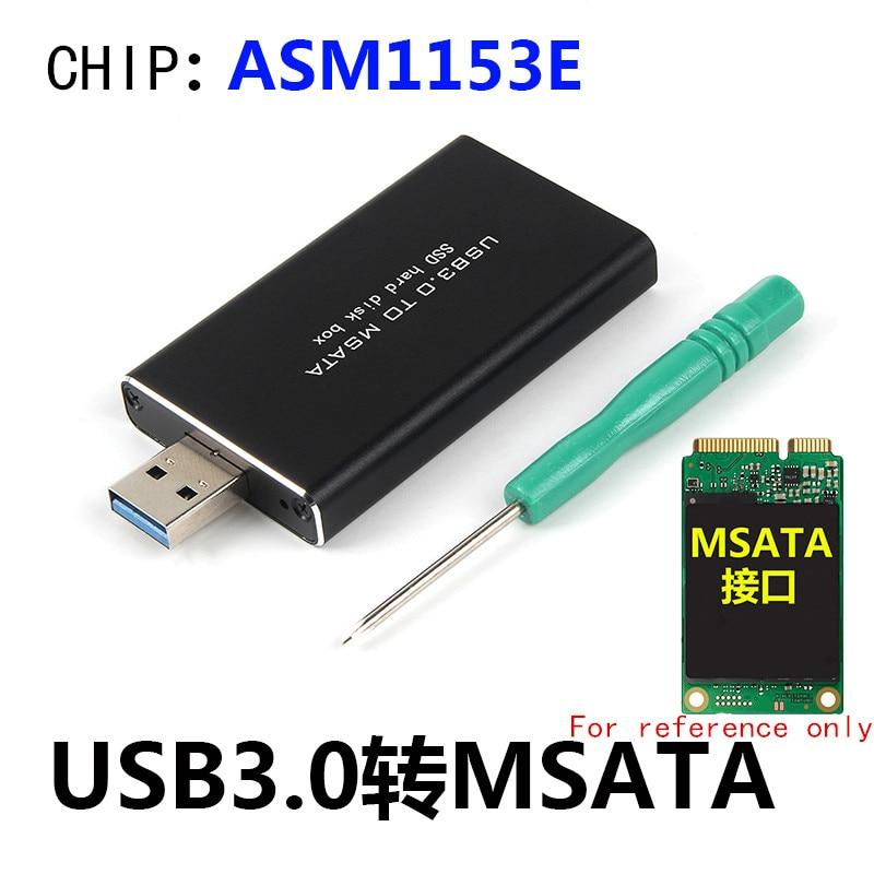 L Usb3.0 To Msata Mini-Sata 30Mm X 50Mm Full Size Ssd Portable Hard Disk Driver External Enclosure