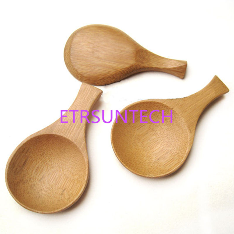 500pcs/lot Handmade Mini Bamboo Tea Scoops Kung Fu Tea Spoon Black Green Tea Shovel Gift For Friends Family 9.2*4.3cm