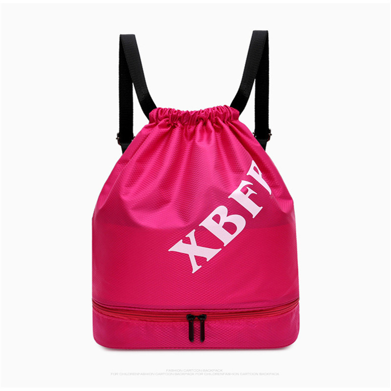 3pcs Unisex Solid Color Drawstring Bag Beach Bag Outdoor Fitness Sport Bag Convenient Waterproof Drawstring Travel Bag Backpack